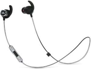 JBL JBLREFMINI2BLK Bluetooth Sports & Exercise Wireless In-Ear Headphones 3-Button Microphone and Volume Control, Black