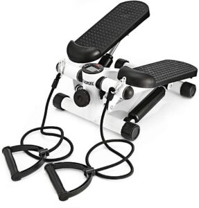 workout stepper machine   KUOKEL Mini Stepper, Fitness Stair Stepper - Portable Twist Stair Stepper Adjustable Resistance,Fitness Exercise Machine with Resistance Bands Durable 2021