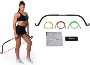 best compact home gym equipment| Gorilla Bow Portable Home Gym Resistance Bands and Bar System for Travel, Fitness, Weightlifting and Exercise Kit, Full Body Workout Equipment Set …