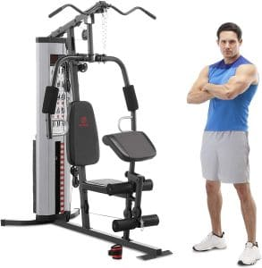Marcy MWM-988 Multifunction Steel Home Gym 150lb Weight Stack Machine| compact home gym machine